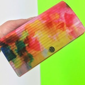 TORY BURCH Rayna Resin Watercolor Clutch Purse